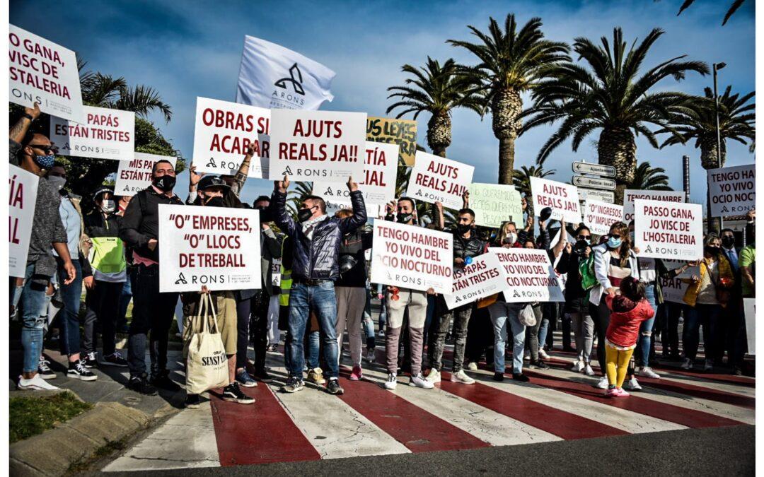 L'empresari d'oci nocturn de Salou abandona la vaga de fam per problemes de salut cinc dies després d'iniciar-la