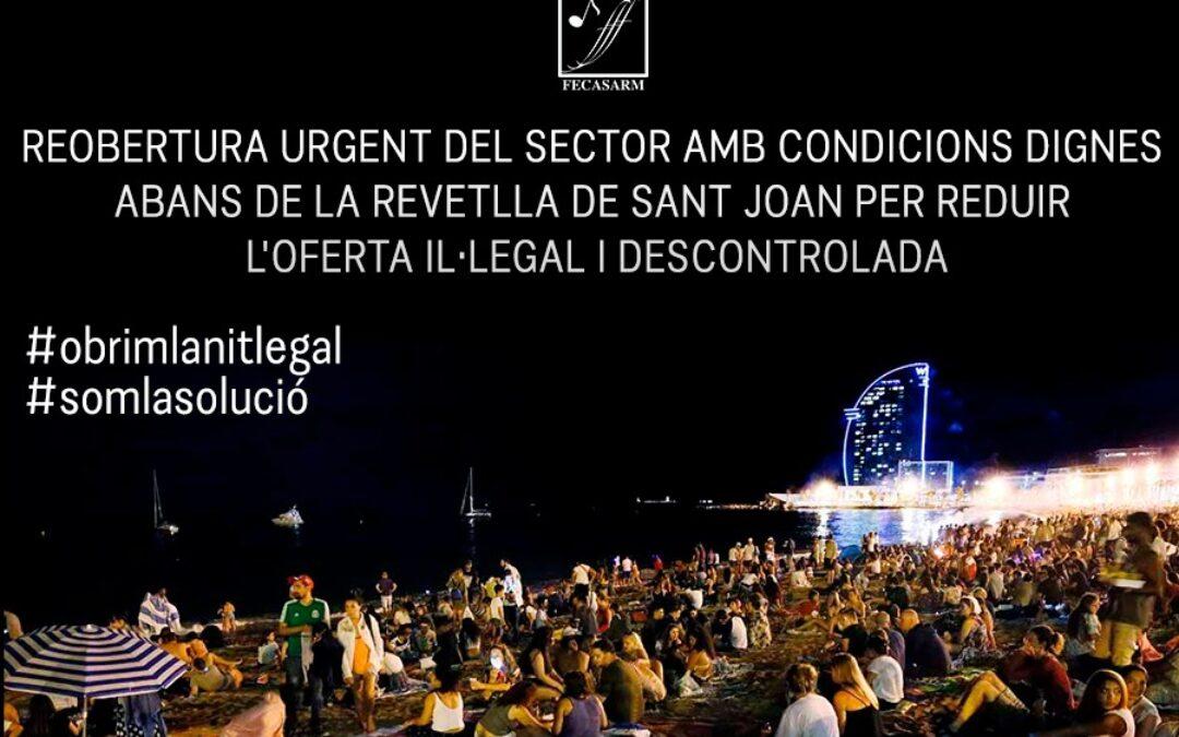 La FECASARM celebra que la Generalitat decideixi en la desescalada de l'oci nocturn i li demana valentia i confiança en els empresaris