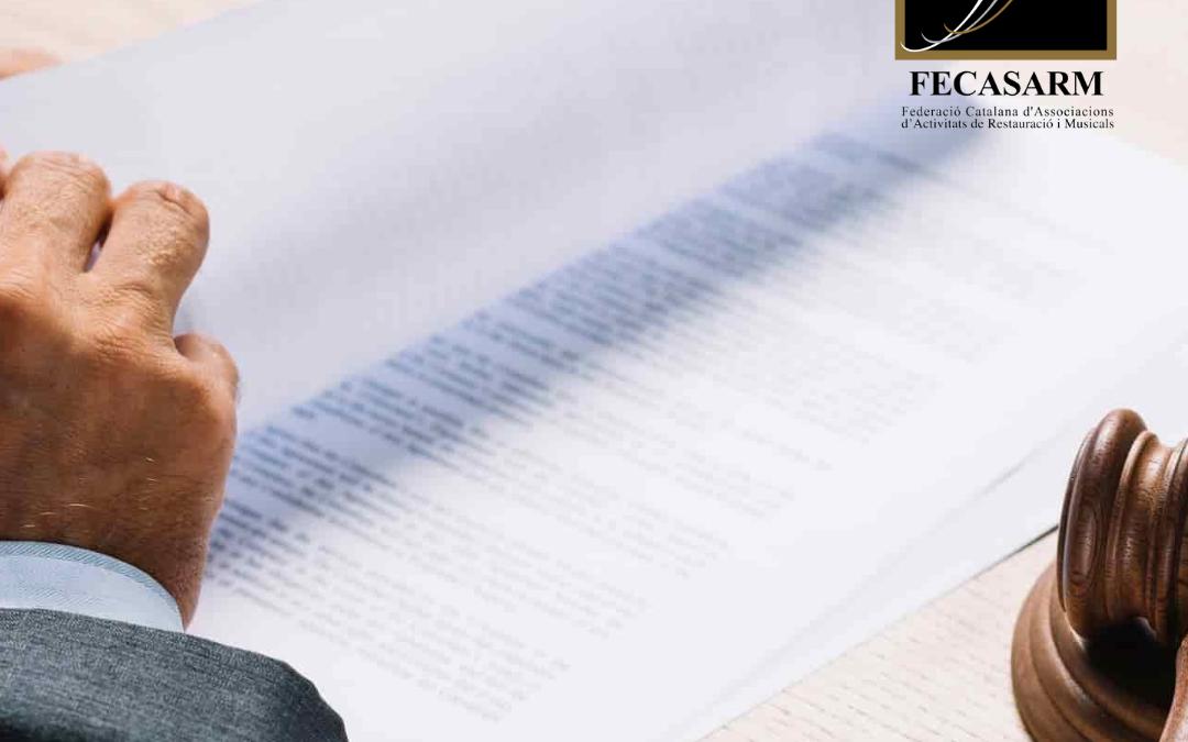 La FECASARM presenta un nou recurs contenciós contra la pròrroga de les restriccions aprovades per la Generalitat i ja acumulatres casos amb cautelars pendents